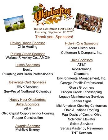 Oktoberfest Golf Sponsor Thank You